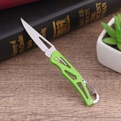 카라비너 접이식 캠핑용칼(그린)/등산 폴딩 주머니칼