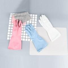프리미어 파스텔 PVC 다용도 설거지 고무장갑 3color
