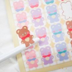 [파로상점/풀곰] 솜사탕 곰 스티커