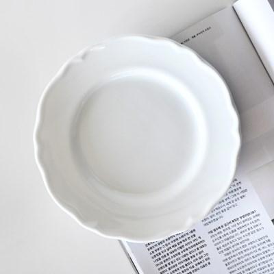 릴리스 화이트 플레이트 접시 21cm_(1800213)