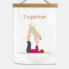 TOGETHER fabric poster