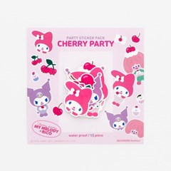 MY MELODY x RiCO PARTY STICKER PACK - CHERRY PARTY