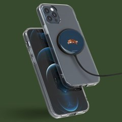 마그네틱 맥세이프 호환 15W 맥파워 무선 충전기+C to A USB 젠더