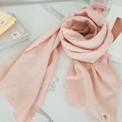 무지 기본 롱 핑크 블랙 데일리 학생 패션 면 스카프