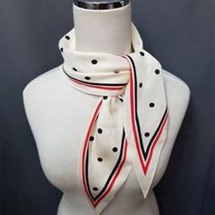 실키 쁘띠 도트 승무원 가방 미시 패션 스카프