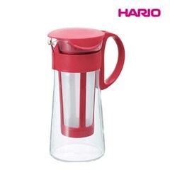 하리오 홈카페 침출식 콜드브루 커피메이커 600ml 레드
