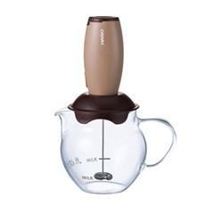 하리오 커피 핸드드립 세트 전동 우유 거품기 브라운