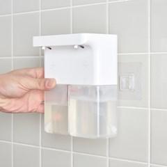 듀얼 화이트 욕실 주방 디스펜서 거품 물비누 자동세제_(1411160)