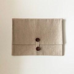 단추 북파우치 (button book pouch) - 내추럴 natural