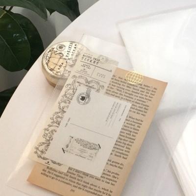 냥냥빔 A5 투명화일 (금박)