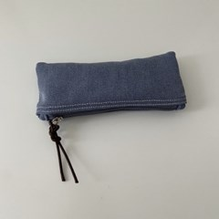 빈티지 데님 필통(Vintage denim pencil case)