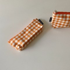 오렌지 삼각 필통(Orange triangle pencil case)