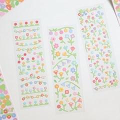 리무버블 무광 꽃 스티커팩