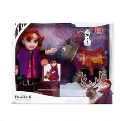 정품 디즈니 겨울왕국2 안나와 스벤 인형세트