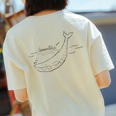 [Organic cotton] Blue whale (natural)
