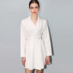 랩 셔츠 화이트 원피스 _ Wrap Shirt White OP