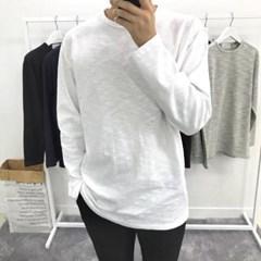 봄 루즈핏 슬라브 얇은 이너 레이어드 정장 긴팔 티셔츠