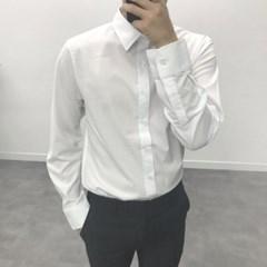 봄 TR소재 정장 무지 스판 세미캐주얼 솔리드 셔츠