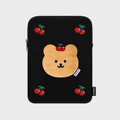 [04.26 예약배송]Cherry covy-black(아이패드 파우치)