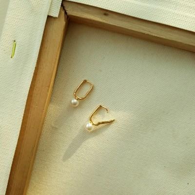 (실버925) 천연담수진주 원터치 귀걸이(DJABSP02)