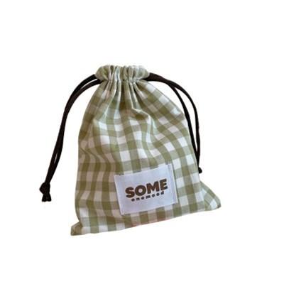 check string pouch (light khaki)
