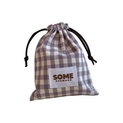 check string pouch (light purple)