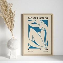앙리마티스 그림 액자 포스터 블루우먼