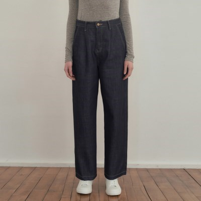 Raw pintuck indigo Pants