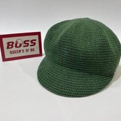 숏챙 그린 블랙 데일리 패션 헌팅캡 마도로스 모자
