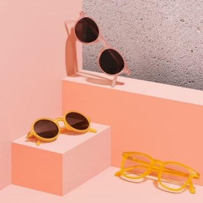 이지피지 주니어 선글라스 #D 아이코닉 (핑크/옐로우, 4-10세용)