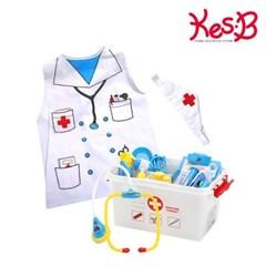 [캐스B]플레이 EQIQ 병원놀이+조끼형 의사복