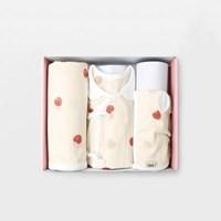 플럼플럼 신생아 출산선물세트(저고리+속싸개+모자)_여름용