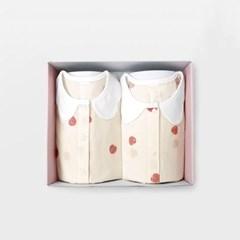 [메르베] 플럼플럼 아기 돌선물세트(내의+수면조끼)_여_(1593989)