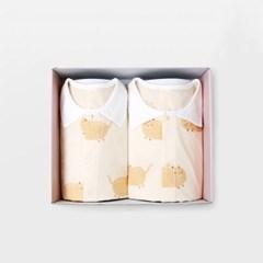 [메르베] 뚱냥이 아기 돌선물세트(내의+수면조끼)_여름_(1593986)