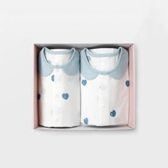 [메르베] 블루베리 아기 돌선물세트(내의+수면조끼)_여_(1593985)