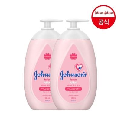 존슨즈 핑크 로션 500ml 2개입