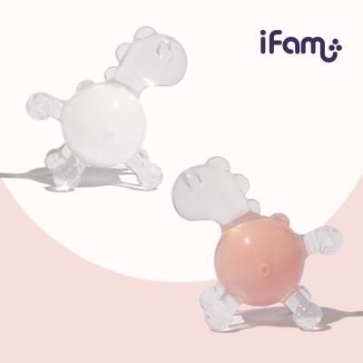 아이팜 물방울 포니 실리콘 치발기 딸랑이 장난감
