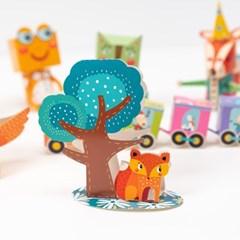유아 3D 쉬운 입체 종이접기 3종 종이접기책