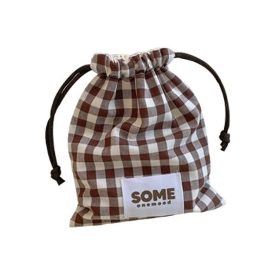 check string pouch (brown)