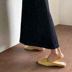 여성 가죽 스퀘어토 심플 러블리 리본 블로퍼 DONA 5921