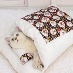 캣배딩 고양이 베개+이불(55x40cm) 반려동물 침낭