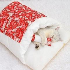 캣배딩 고양이 베개+이불(65x46cm) 반려동물 이불담요