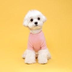플로트 베이직티셔츠 강아지옷 핑크