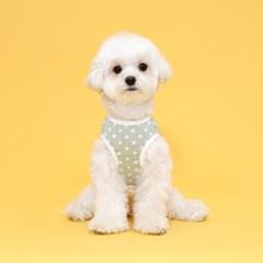 플로트 실내복도트민소매티셔츠 강아지옷 민트