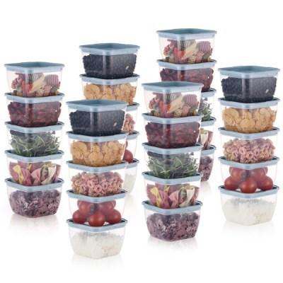 한끼밥 냉동밥 전자렌지용기 400ml 30개(블루)