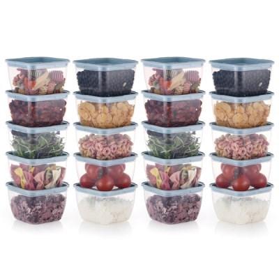 한끼밥 냉동밥 전자렌지용기 400ml 20개(블루)