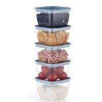 한끼밥 냉동밥 전자렌지용기 400ml 5개(블루)