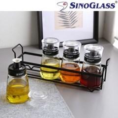 시노글라스 160ml 5P 유리소스병 미니소스통 간장 기름_(597997)