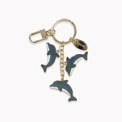해양동물 돌고래 메탈키체인 키링