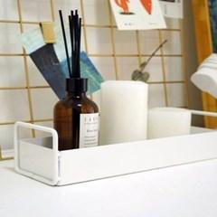 철제 손잡이 욕실 수납정리 트레이 (소형)